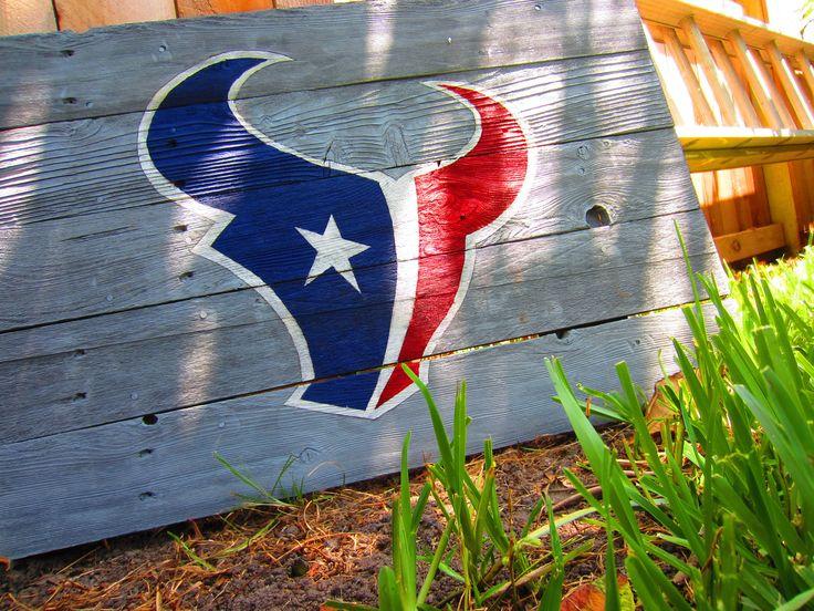 Houston Texans Rustic Sign. $28.00, via Etsy.  Texans, we still love you. <3