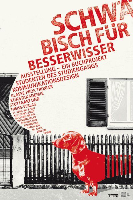 schwabian dialect for know-it-alls [poster] « daniel wiesmann grafikdesign
