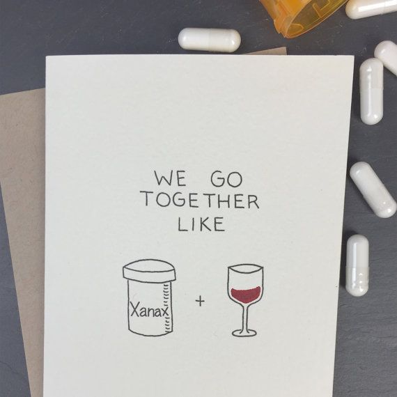 Xanax Folded Card by CHALKSCRIBE on Etsy