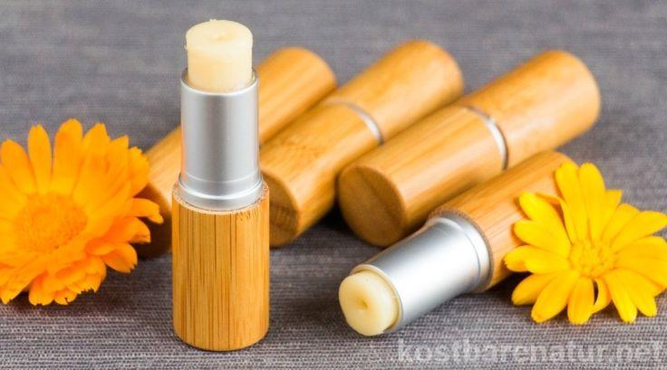 Selbstgemachte Lippenpflege  mit Ringelblumen - so einfach geht's