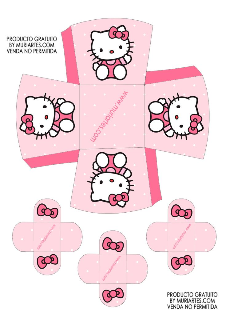 Imprimibles Hello Kitty rosa - www.susaneda.com