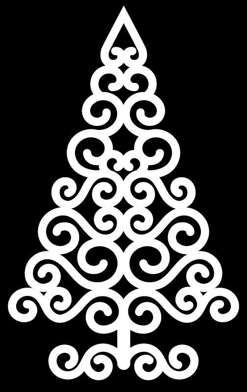 Swirly Christmas Tree by Bird