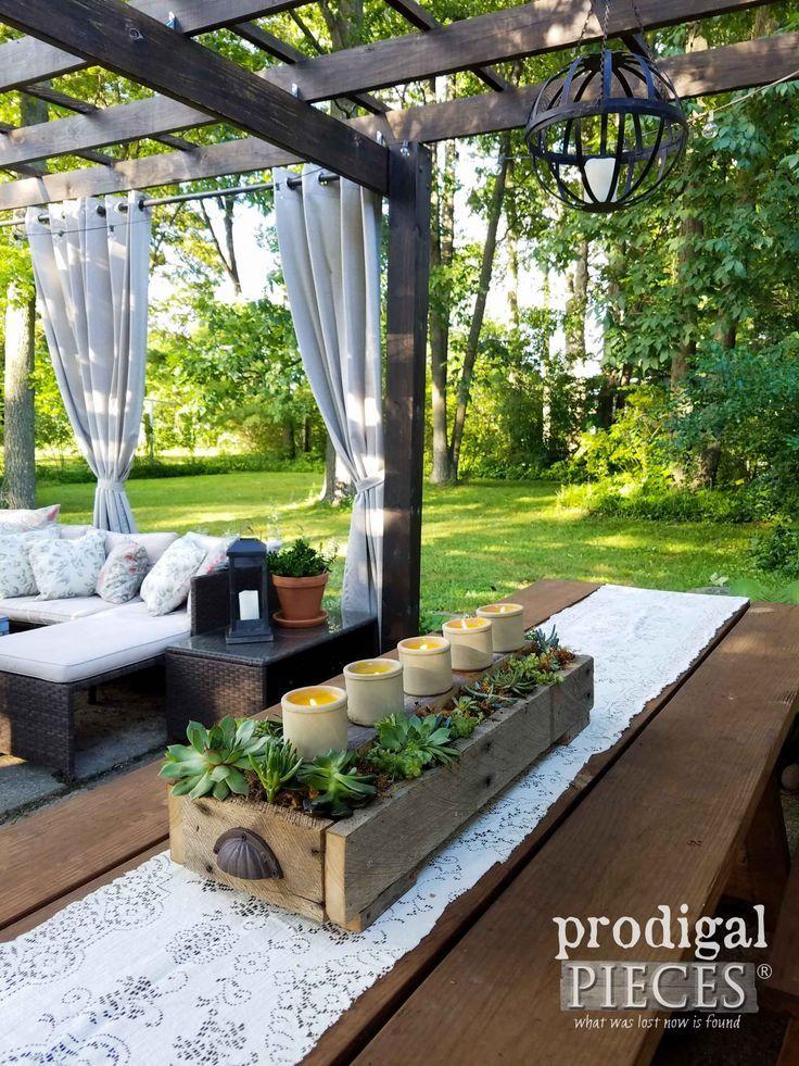 DIY Succulent Centerpiece Planter Sukkulenter Pfla…