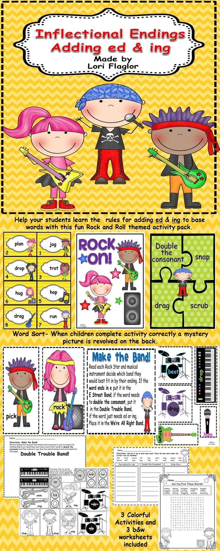 17 Best images about Grammar - ed & -ing on Pinterest  Anchor  math worksheets, alphabet worksheets, education, worksheets, and multiplication Suffix Ed And Ing Worksheets 1840 x 736