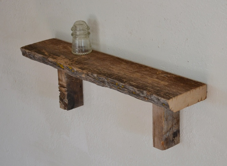Reclaimed barn wood wall shelf simple and unique inches