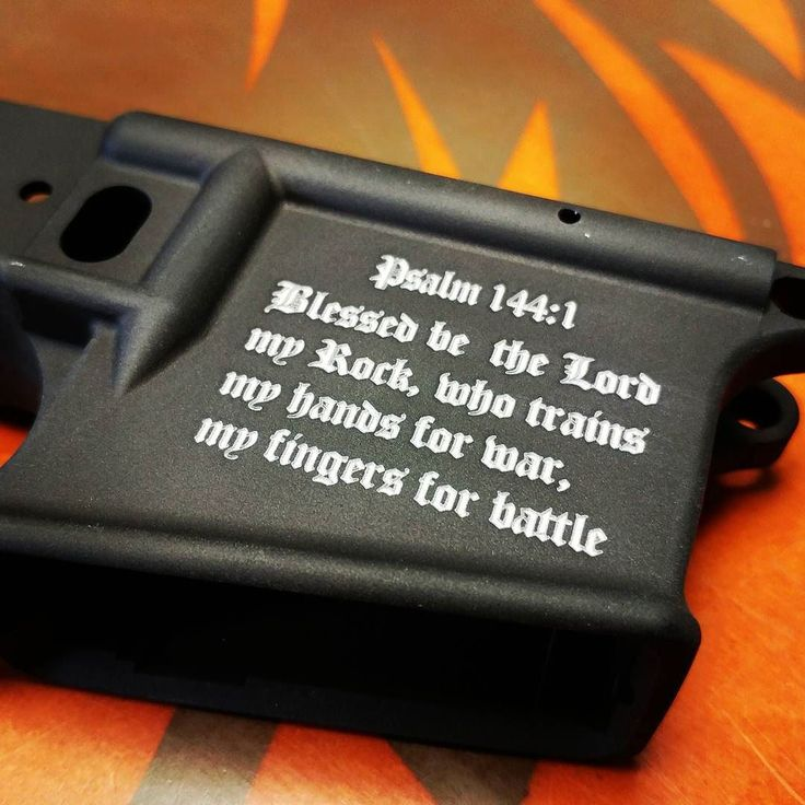 Little custom touch on a @spikes_tactical lower  #spikestactical #crusader #lower #custom #ar15 #godwillsit #laserengraved #frickenlaserengraved #leoarmory