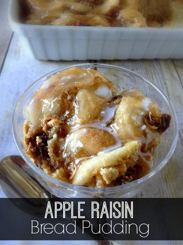 My Apple Raisin Bread Pudding is pure comfort food in a bowl. You have to try it!