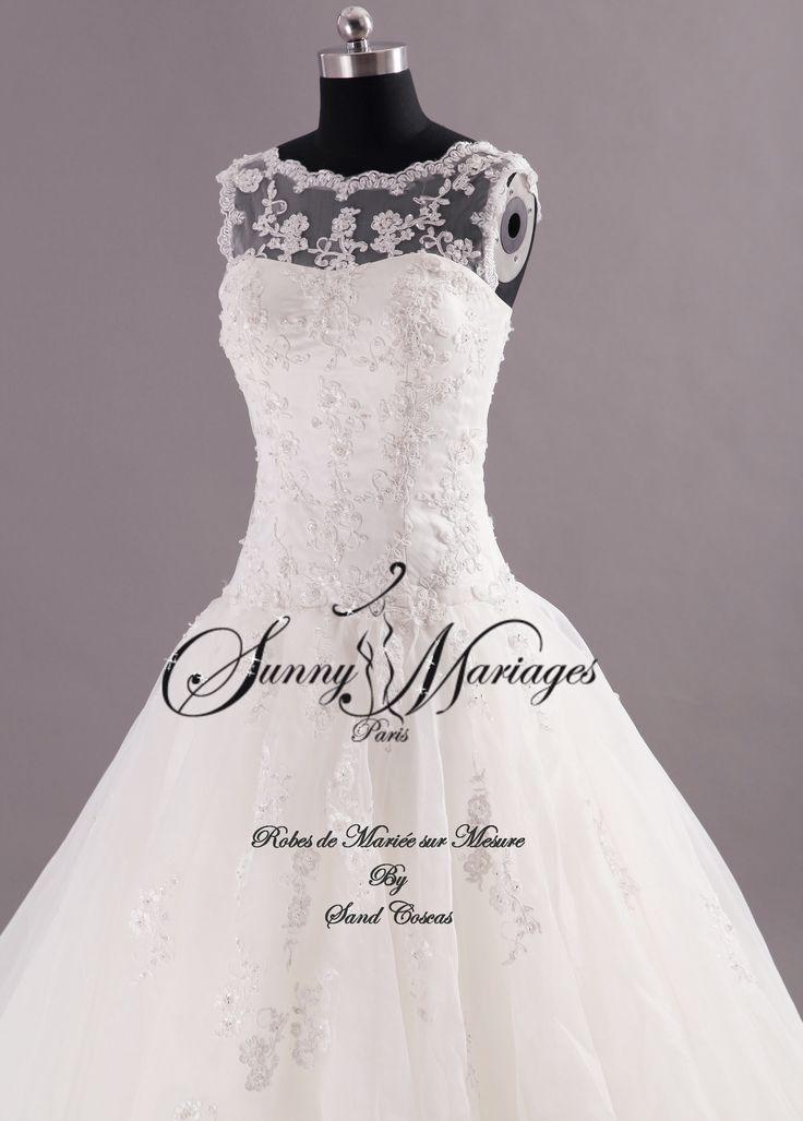 Robe de mariee princesse dentelle sur mesure pas chere | Sunny Mariage
