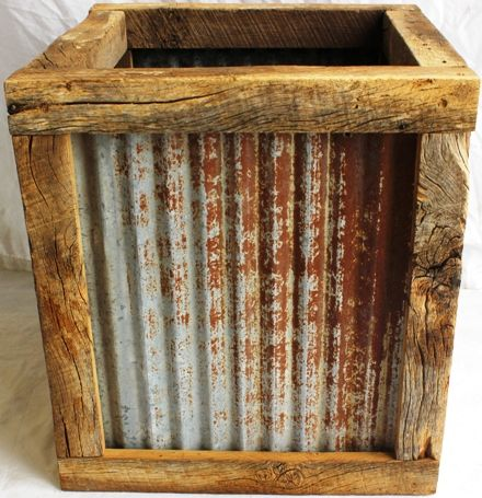 16 Barn Metal Planter : Forever Green Art, Preserved Plants for Home and Business