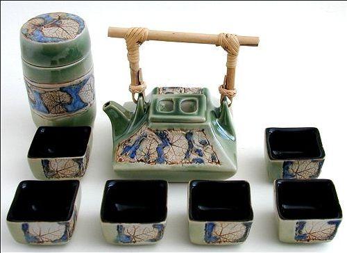 Green Square Tea Set