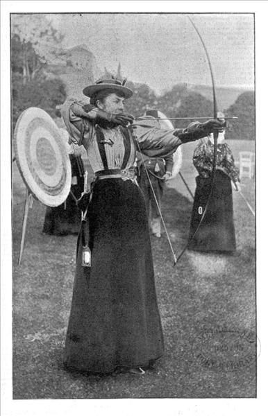 """Archery at Rippon Lea  From The Illustrated Australian News  Nov. 1, 1895"""