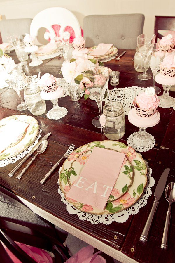 Pink Tablescape Showers Pinterest My Mom Girl
