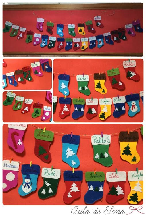 Calcetines navideños en el Aula de Elena