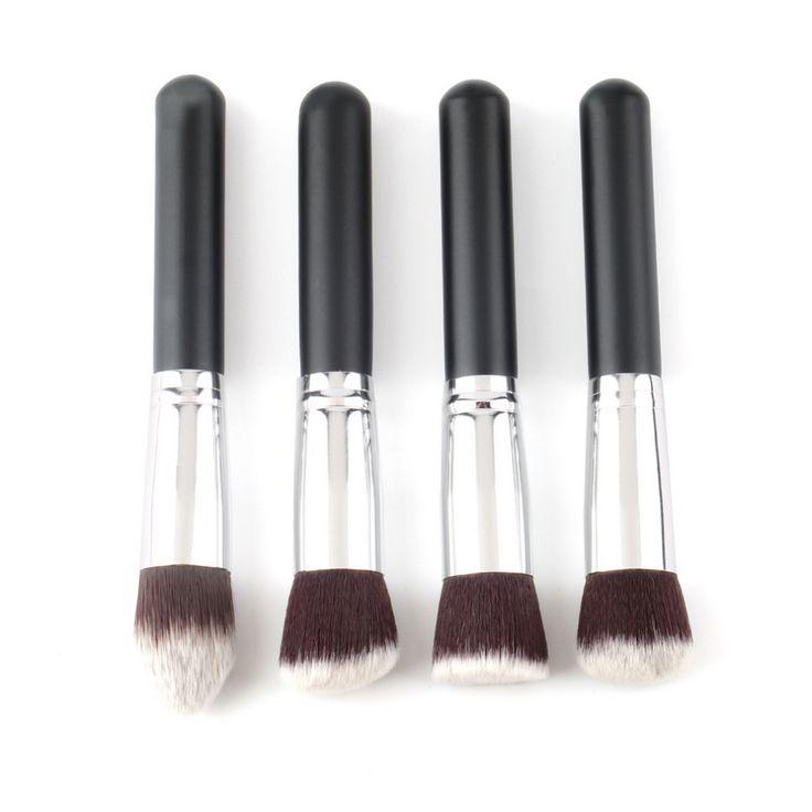 Top Kwaliteit! 4 stks/partij Professionele Synthetische make Borstel enkele make hulpmiddel Cosmetische Foundation brush kits make-up borstel