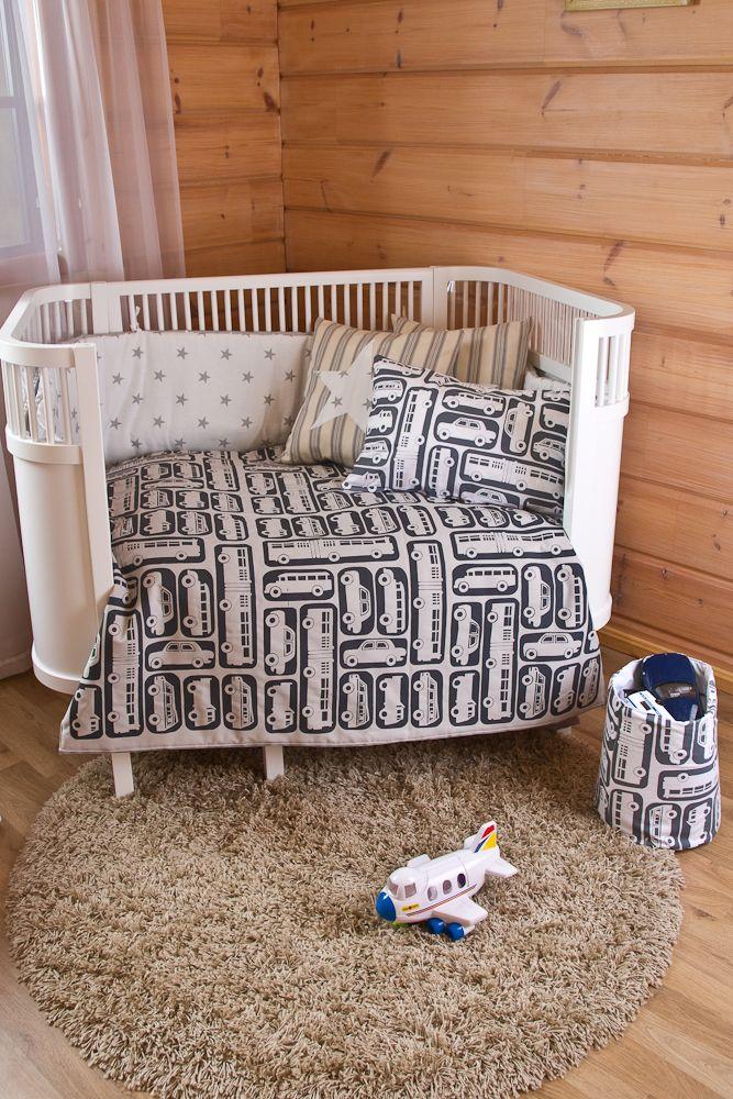 Highway-cot bed quilt * Moottoritie-pinnasängyn päiväpeitto * Hand printed!