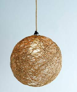 DIY Twine Light!! ~~ Use everyday home items to create unique and wonderful light fittings for a home