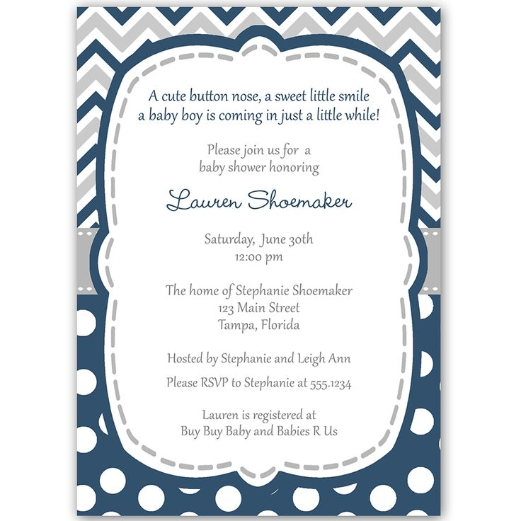 58 best Navy and Grey Baby Shower images on Pinterest | Baby boy ...