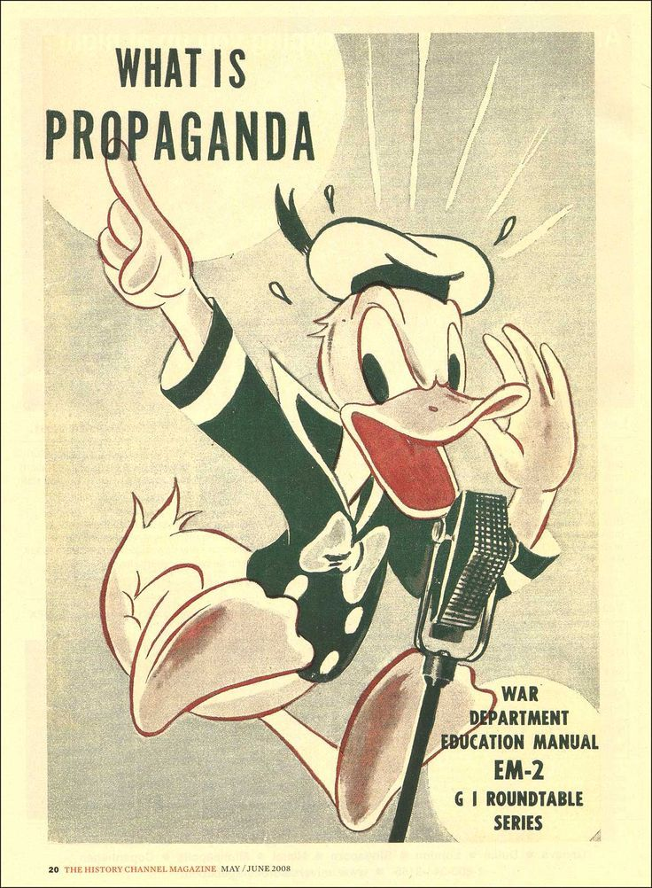 What is Propaganda? War Department Education Manual Walt