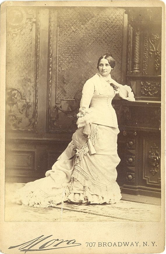 Mrs. Rutherford B. Hayes portrait by Mora, cabinet photograph, ca. 1880. -- Lemonade Lucy - one of my very favorite First Ladies!!!!!