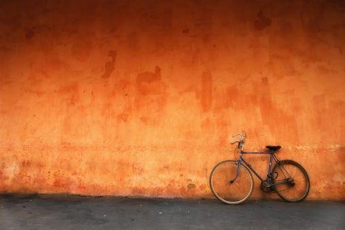 Orange wall, great texture