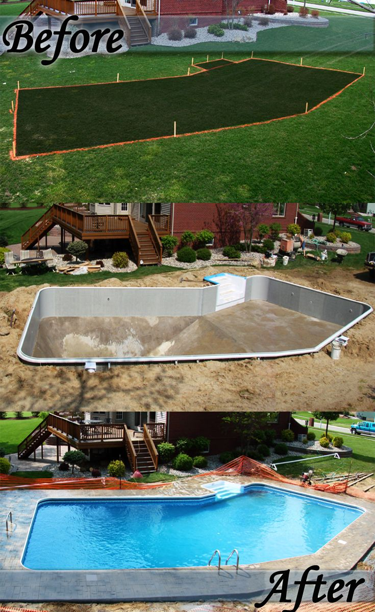 17 best images about backyard before and afters on for Backyard makeover with pool