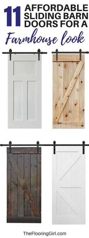 11 Affordable sliding barn doors for an authentic farmhouse look