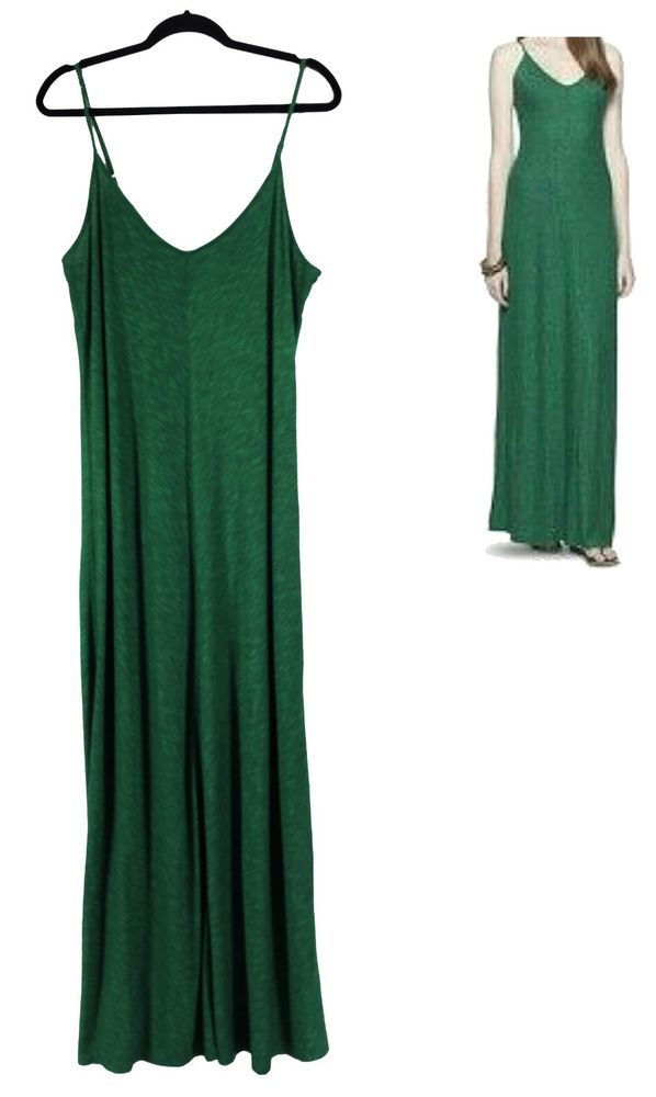 XXL 1X 16 SEXY Womens JADE GREEN CAMI MAXI DRESS Summer Vacation Party PLUS SIZE #Mossimo #MaxiDress #Versatile