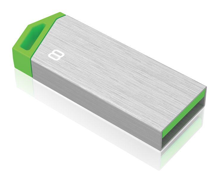 miniMetallic mini USB flash drive, back 3/4 - 8GB #EMTEC #FlashDrive