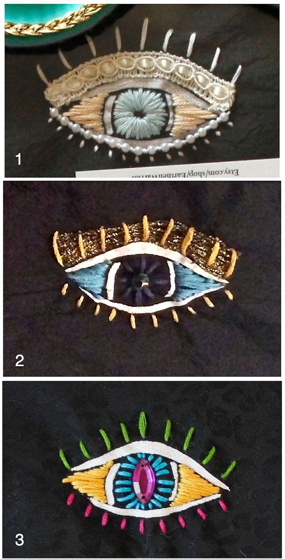 Evil Eye Embroidered Sleep Mask by EarthenWarrior on Etsy