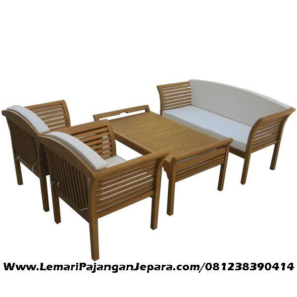 Jual Kursi Tamu Minimalis Jari Jari merupakan Produk Mebel asli dari Jepara dengan Desain Meja Minimalis Dan Kursi Tamu Minimalis Jati Jok Busa Putih