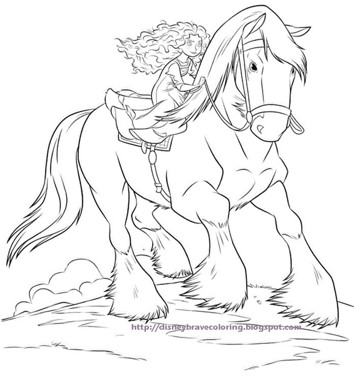 FREE BRAVE DISNEY COLORING PAGES