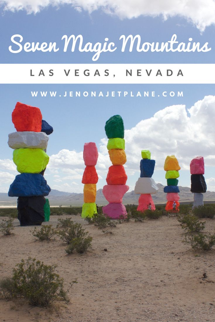 Don't miss out on Seven Magic Mountains, an art installation outside of Las Vegas, Nevada for a limited time only!