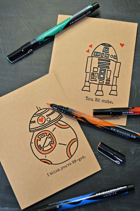 Hand drawn Star Wars Valentines