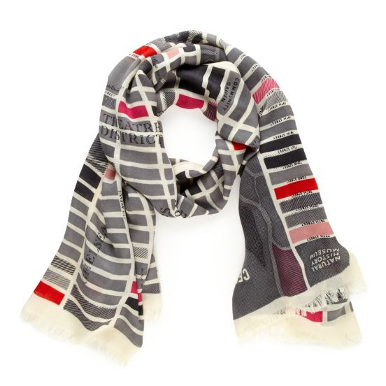 kate spade | kate spade girl about town manhattan map scarf