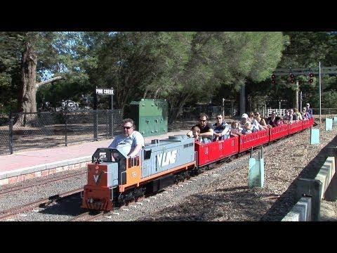 Miniature Railway at Eltham, Victoria, Australia - YouTube