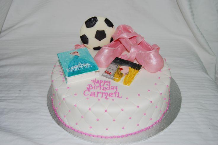 tween girl cake, ballet, Taylor Swift