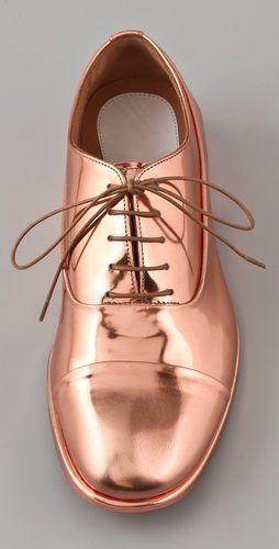Maison Martin Margiela, Spazzolato Oxfords #shoes #copper