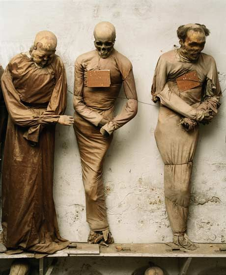 The Museum of the Dead. Palermo, where the corpses are treated as characters in a play...  from cabinetmagazine.org