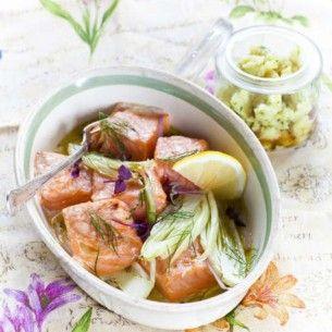 Lax med fänkål & pressad mandelpotatis - Recept från Mitt kök - Mitt Kök