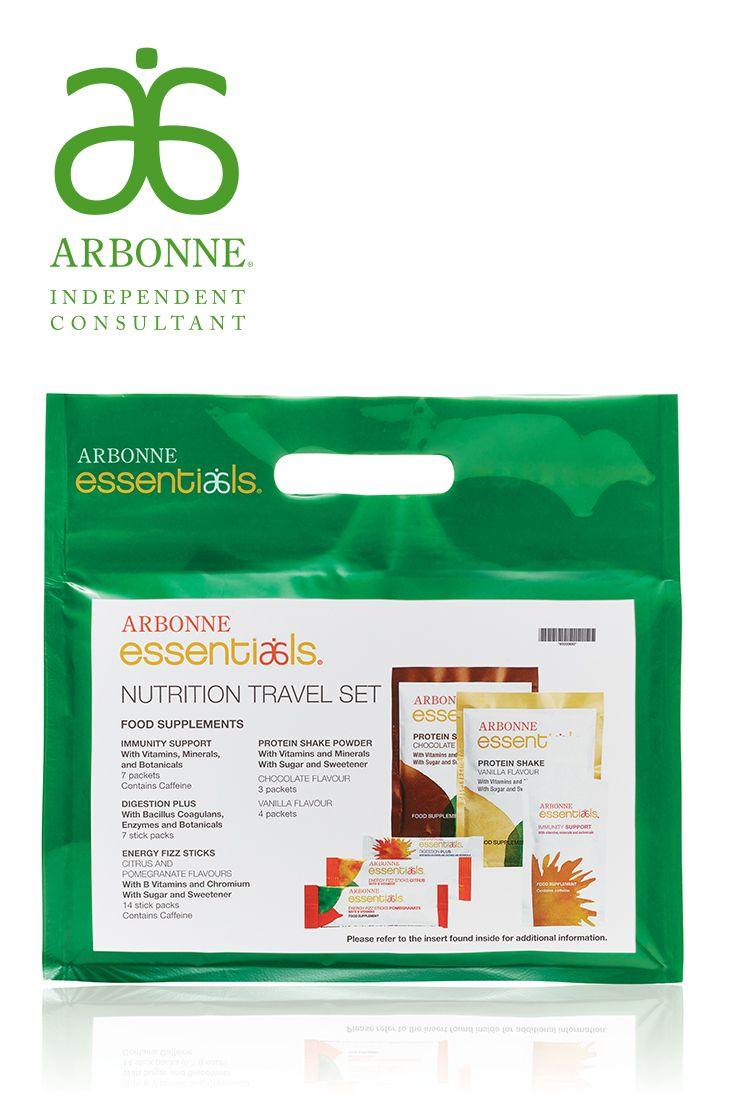 Arbonne Essentials Nutrition Travel Set Set Comes With A