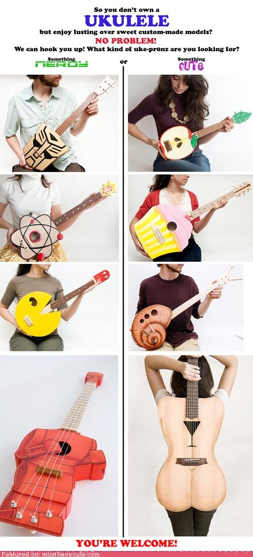 cute ukuleles