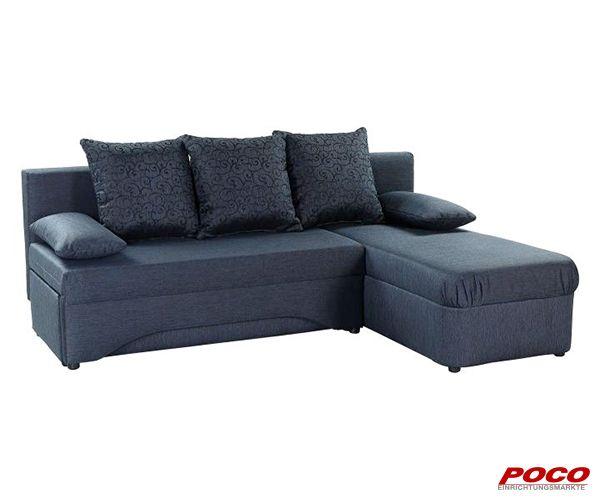 Funktionsecke Dunkelblau Ca 191 X 142 Cm Online Bei Poco Kaufen Schlafsofa Gunstig Sofa Mit Schlaffunktion Sofa