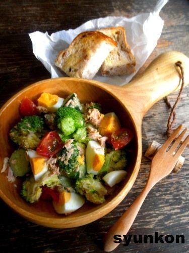 ブロッコリーとゆで卵の和風ツナマヨサラダ