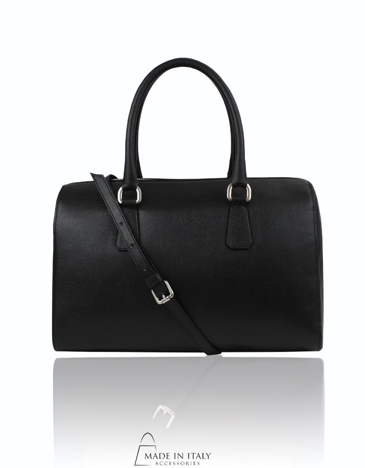 MIA Handbags | Oriana Bag | Black Luxe Leather Bags | Made in Italy Accessories  https://madeinitalyaccessories.com/oriana-leather-satchel-bag