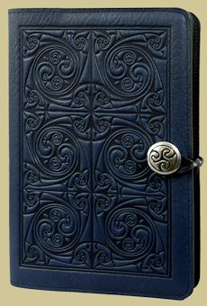 Triskellion Knot Journal Cover from Oberon (favourite in navy, sky blue, or wine colours)