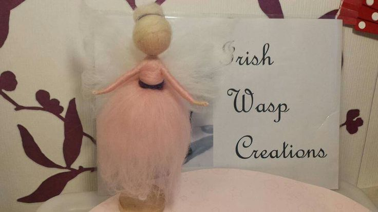 Hand-felted Fairy.  For more check out the Irish Wasp Creations Facebook page.