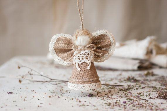 Della tela da imballaggio natale angelo ornamenti di di MaliLili