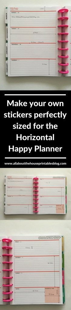 happy planner stickers learn how to make your own custom planner stickers me and my big ideas classic mini tutorial easy quick http://www.allaboutthehouseprintablesblog.com/mambi-happy-planner-horizontal-dimensions-measurements-classic-size-for-making-planner-stickers/