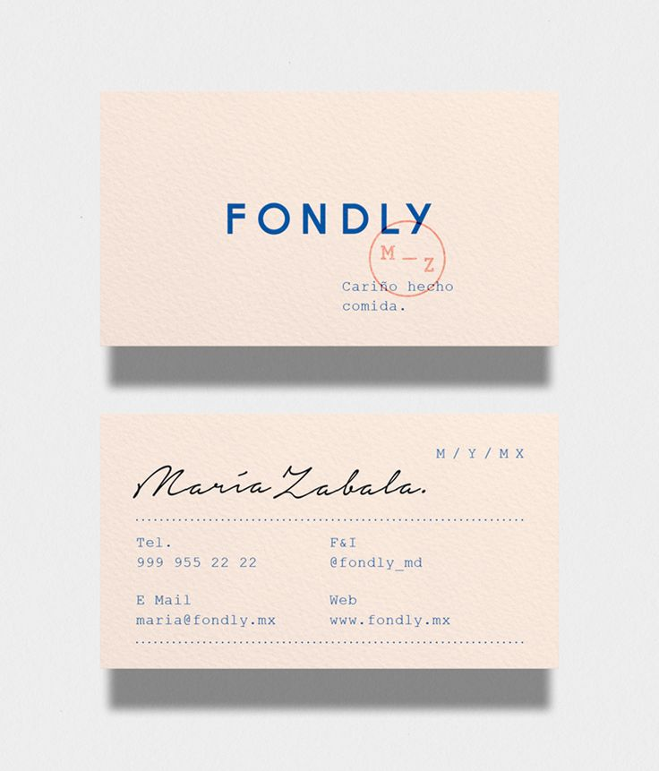 Graphic Design | Fondly Business Card