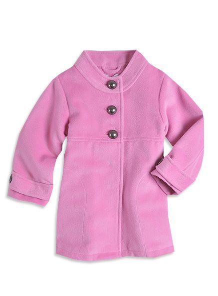 Pumpkin Patch - jackets  - plush chelsea coat - W3TG40033 - vintage rose - 6-12mths to 6